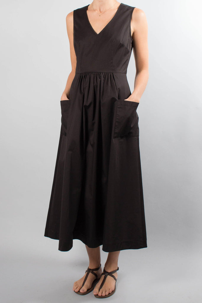 CO Sleeveless V-Neck Cotton Dress