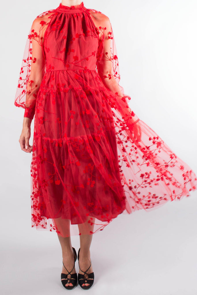 Co Floral Tulle Gown