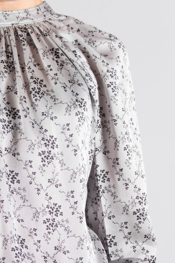 CO Floral Charmeuse Blouse