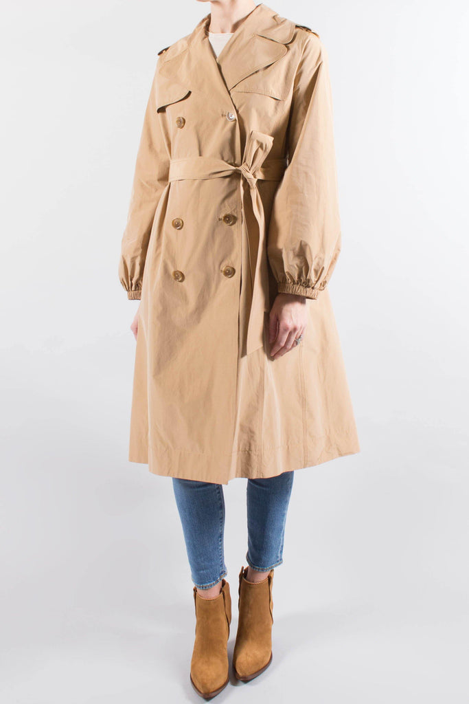 Co Taffeta Double Breasted Trench Coat