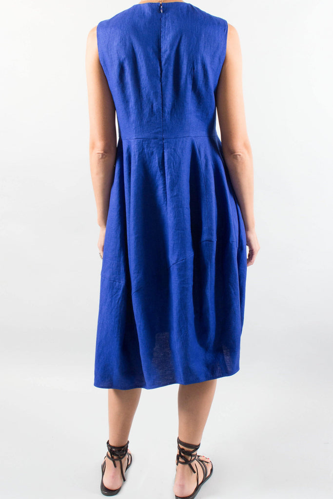 ENFOLD Sleeveless Linen Dress