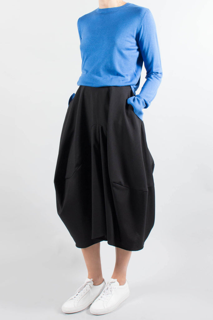ENFOLD Curved Seam Wool Skirt