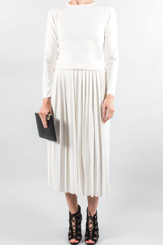 ENFOLD Pleated Knit Skirt
