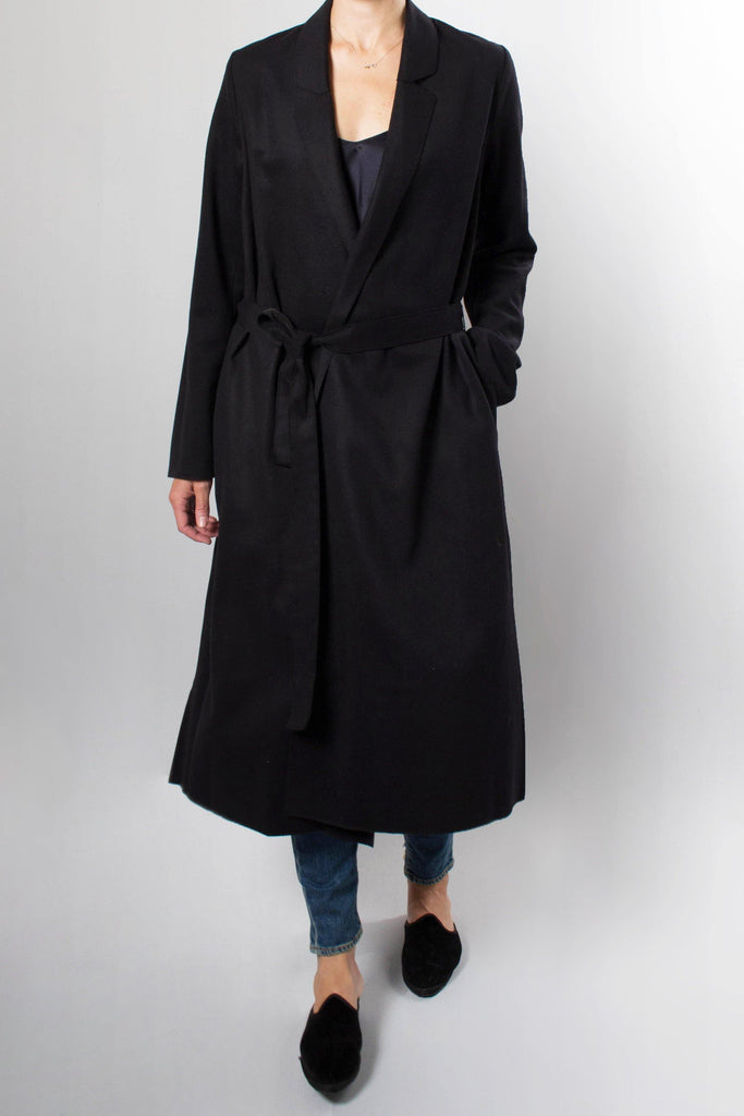 Forte.Forte Wool Cloth Coat with Tie Belt