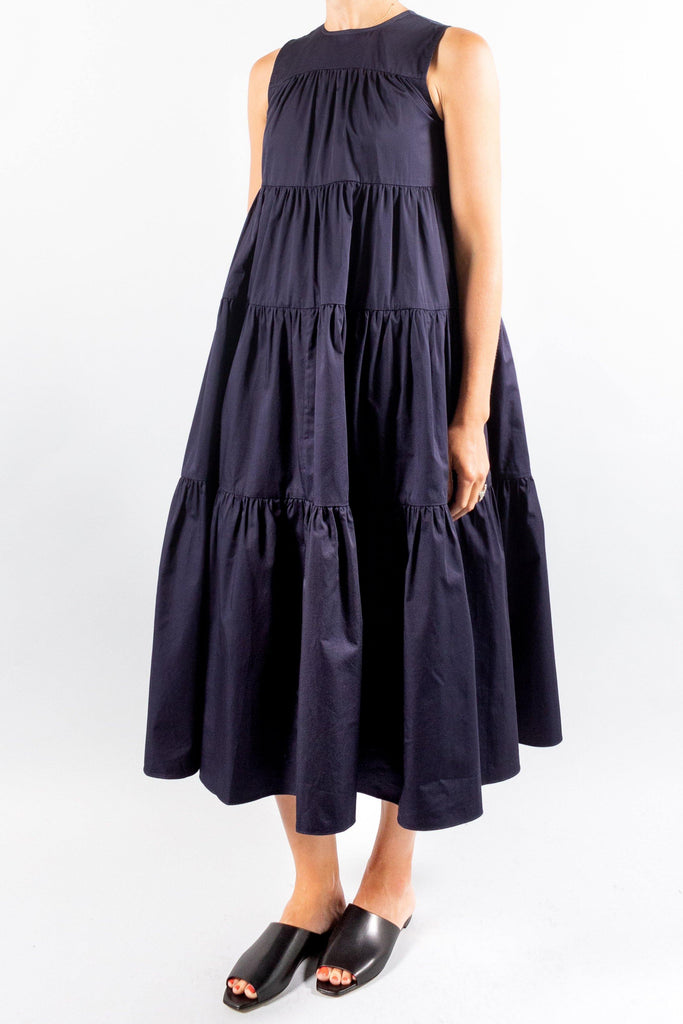 CO Cotton Sleeveless Tiered Dress