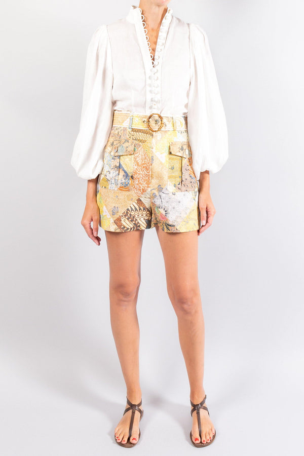 Zimmermann Brightside Piped Shorts