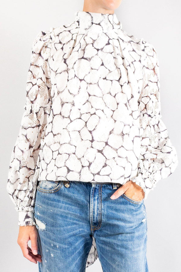 Aje Rebellion Lace Blouse