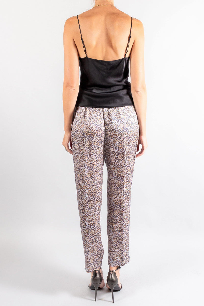Forte Forte Eagle print satin silk elasticated pants