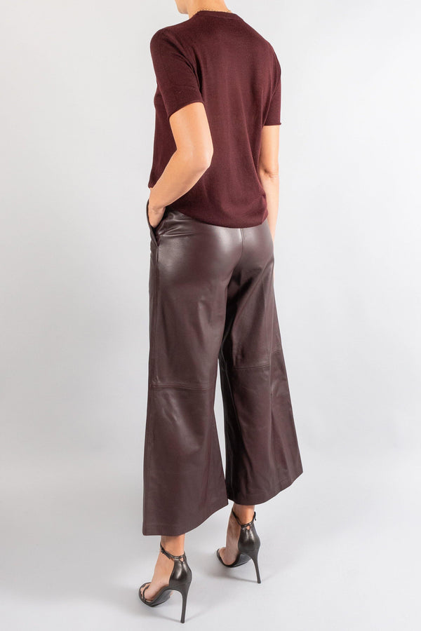 JOSEPH Tuba Leather Trousers