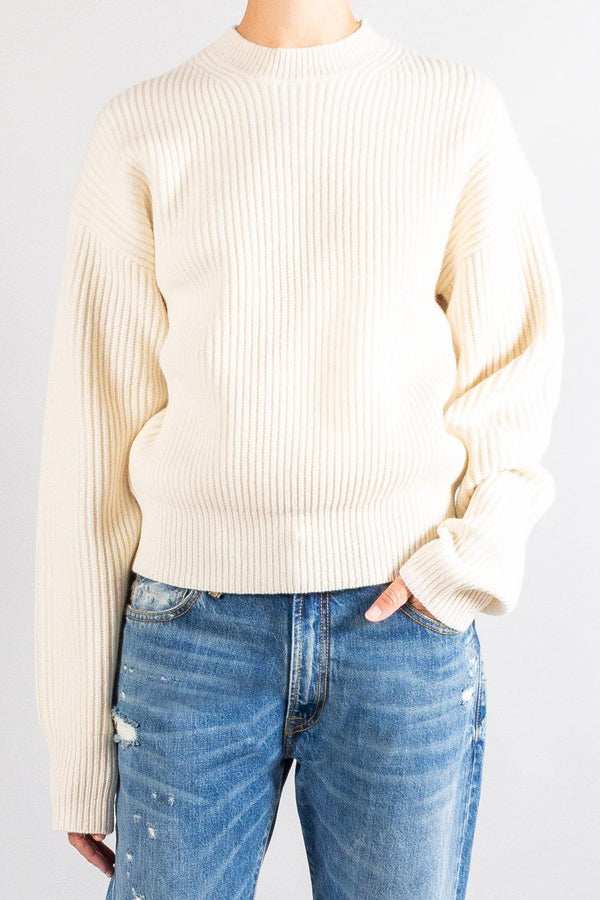 Joseph Crewneck Ribbed Sweater