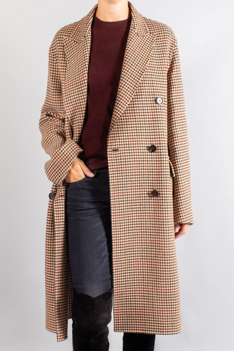 JOSEPH Carles Double Faced Check Coat
