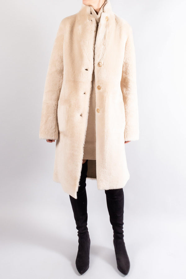 Joseph BRITANNY Leather/Shearling Reversible Coat
