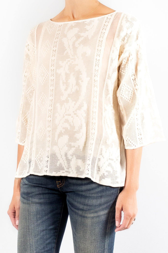 Forte Forte Cotton and Lace Top