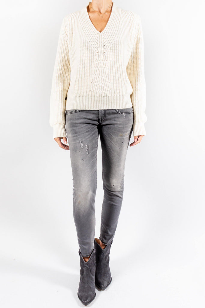 Forte Forte Cashmere V Neck Ribbed Sweater
