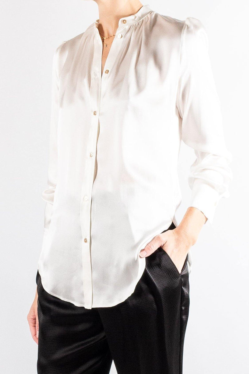 Forte Forte Silk Satin Curled Shirt