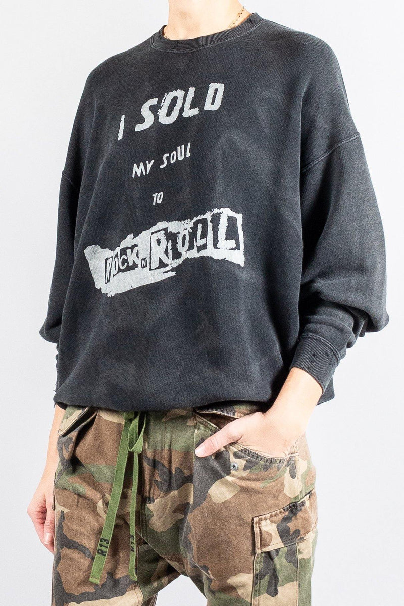 R13 Denim 'Sold My Soul' Sweatshirt