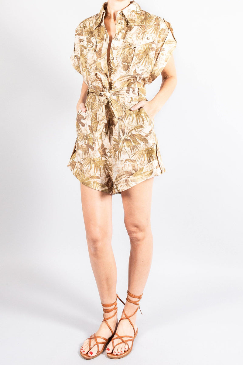 Dresses and Jumpsuits - Zimmermann Brighton Cuffed Playsuit - Misch - Vancouver Canada