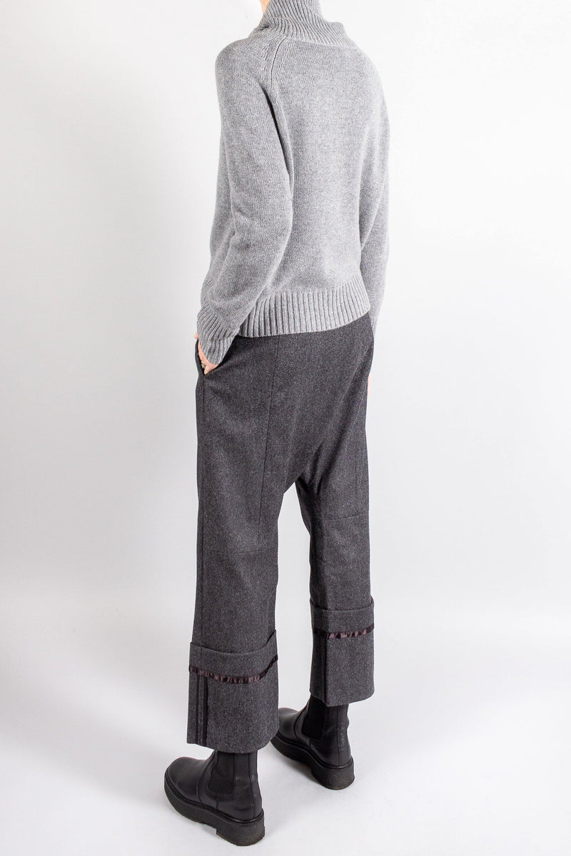 Pants and Shorts - R13 Tailored Crossover Wool Pant - Misch - Vancouver Canada