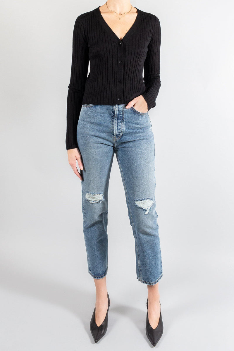 Knitwear - Sablyn Edan Cashmere Ribbed Top - Misch - Vancouver Canada