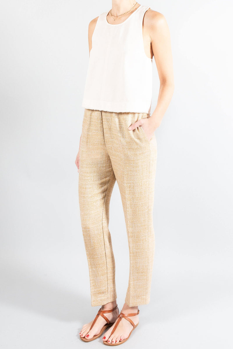 Forte Forte Linen Cotton Herringbone Pants