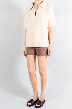 Pants and Shorts - Lou Lou Studio Robben Cashmere Short - Misch - Vancouver Canada