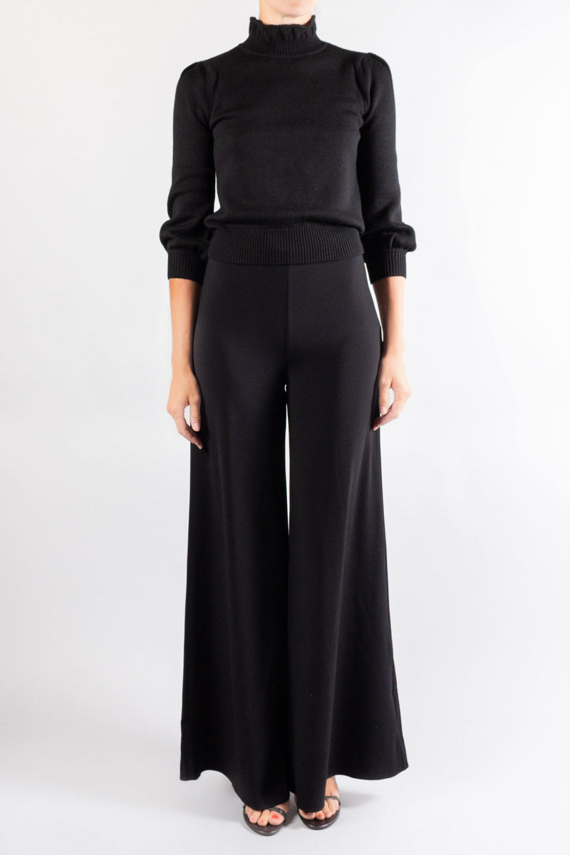 Co Crepe Flared Pant