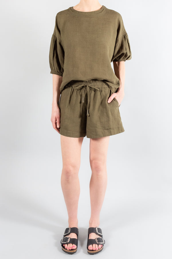 Apiece Apart Organic Linen Trail Short