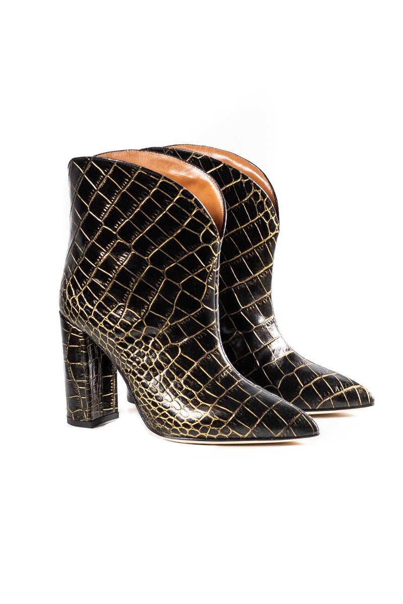 Paris Texas Moc Croco Rounded Ankle Boot