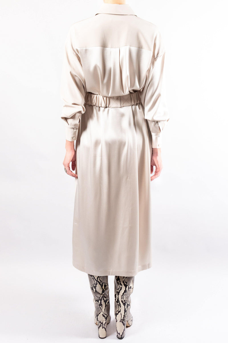 CO Belted Shirt Dress