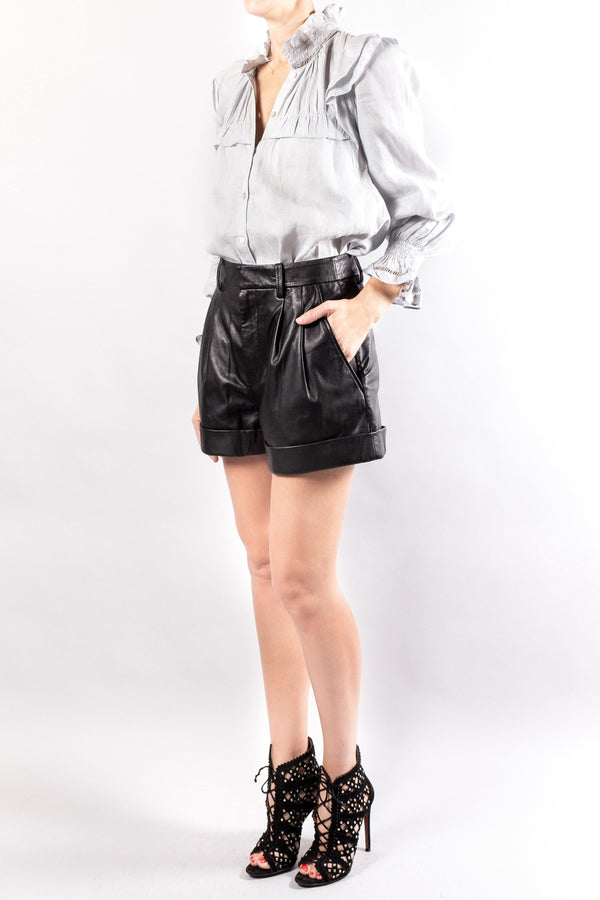Isabel Marant Etoile Abot Leather Shorts