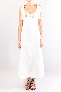 Zimmermann Super Eight Frilled Midi Dress