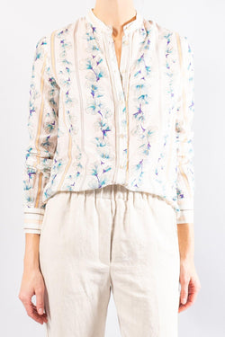 Forte Forte Guadaloupe print voile shirt