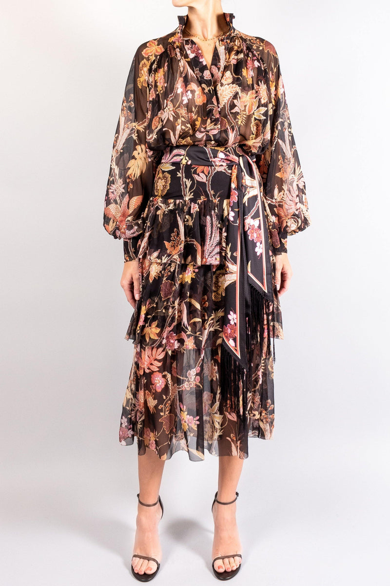Zimmermann Wavelength Fluted Skirt