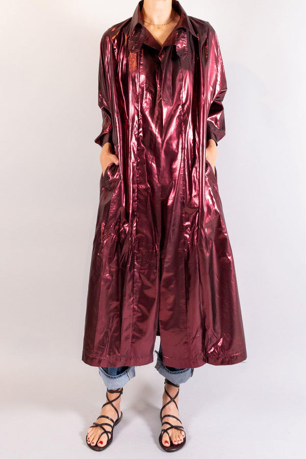 Forte Forte Lurex Taffeta Over Trench