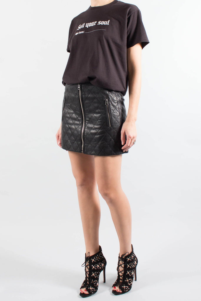 Isabel Marant ARILY Quilted Leather Mini Skirt