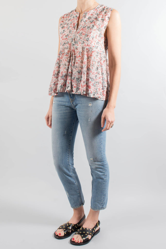 Isabel Marant Etoile ERNEY Printed Cotton Top