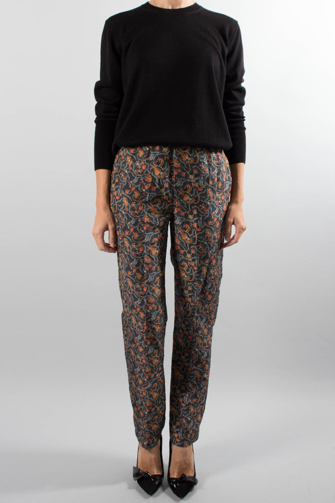 "Isabel Marant Printed Silk ""Roya"" Pants"