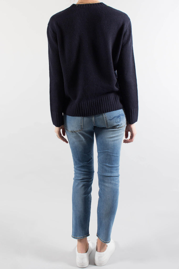 JOSEPH Navy V-Neck Cashmere Sweater