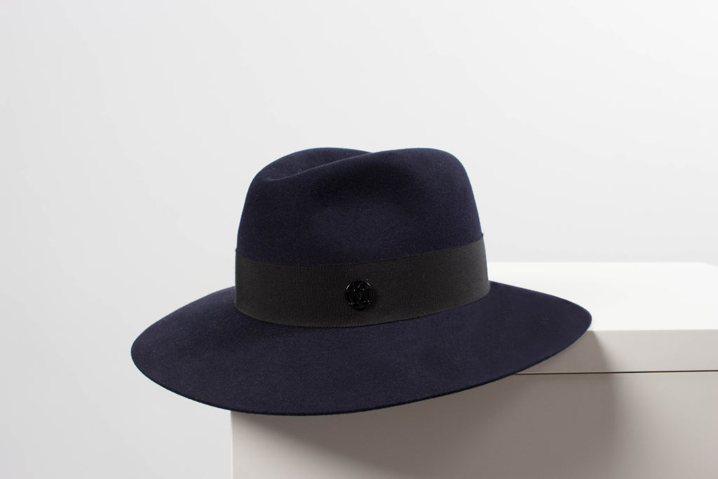 Maison Michel HENRIETTA Felt Hat With Grosgrain Ribbon