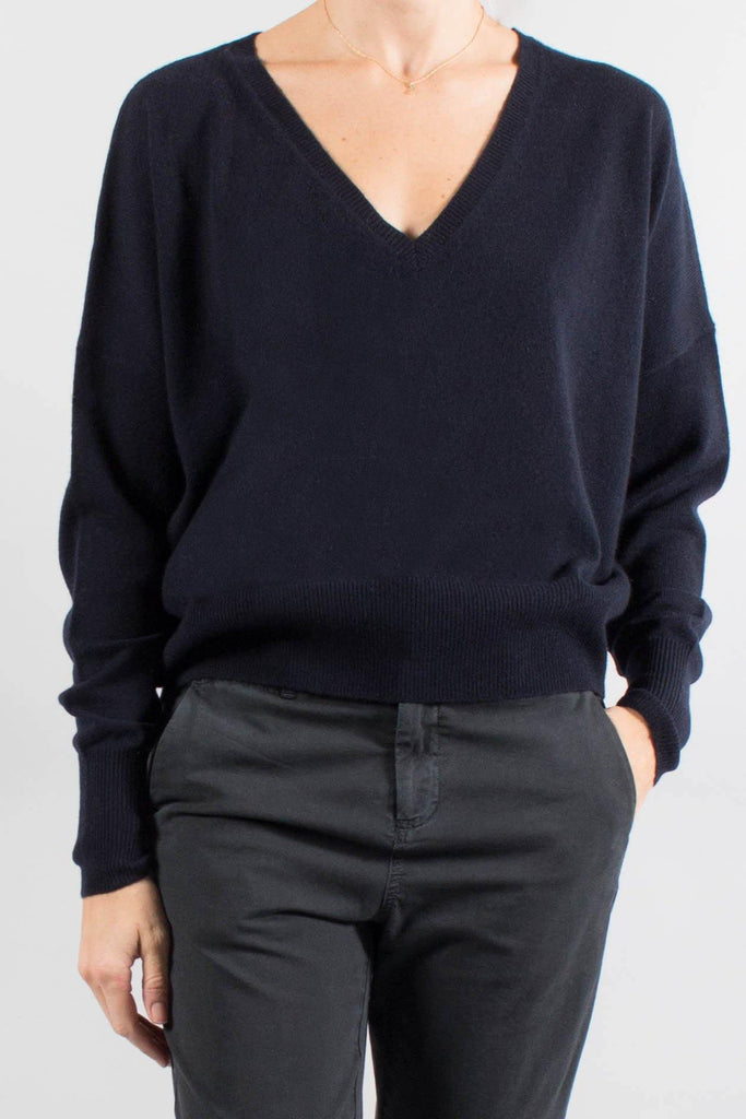 Nili Lotan SAVANNAH Cashmere V-Neck Sweater