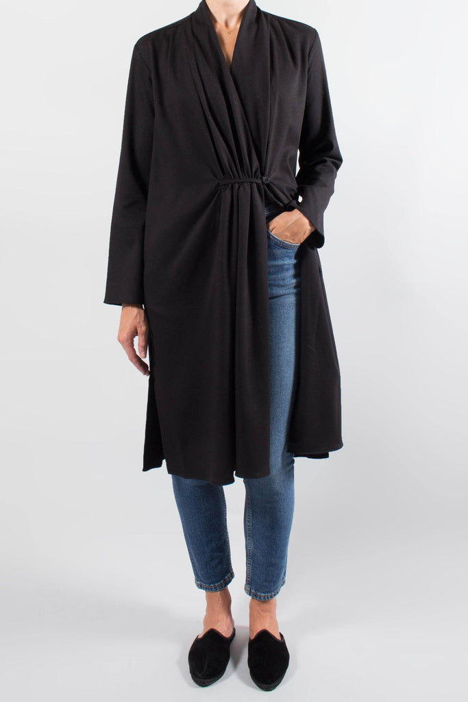 Pomandere Lightweight Gathered Duster Jacket