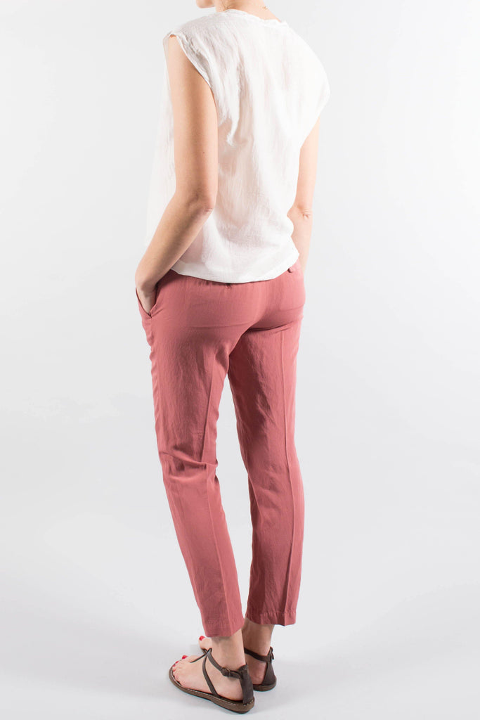 Pomandere Tailored Linen Blend Pant