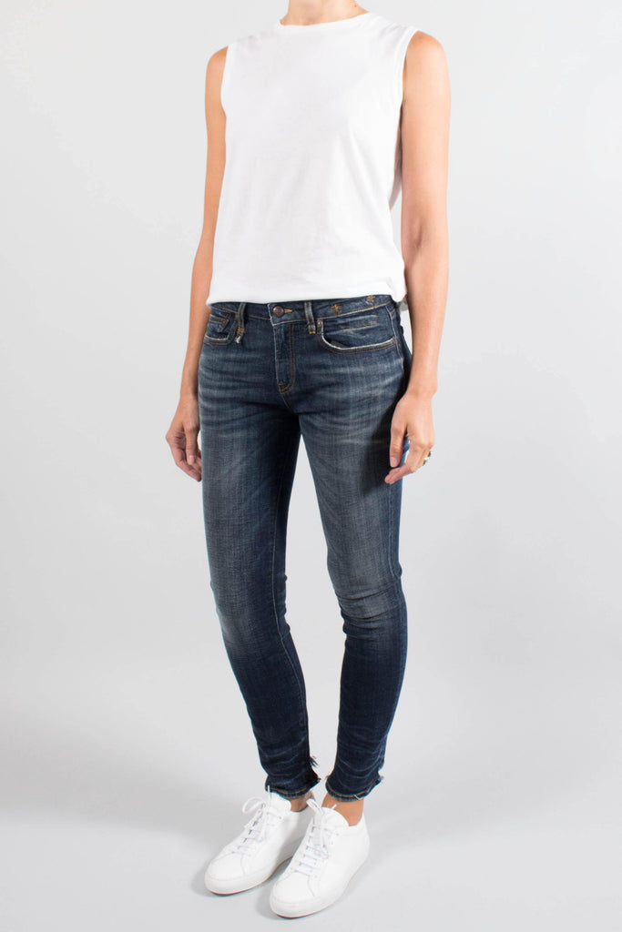 R13 Alison Skinny w Cut Out Back Hem