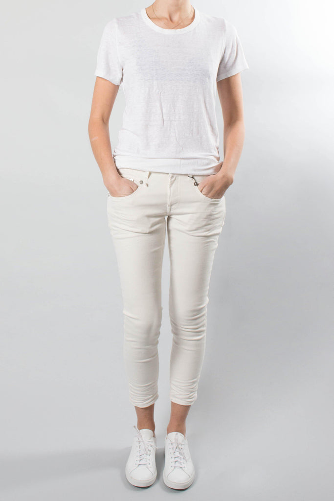 R13 BOY Skinny Jean in White Riot
