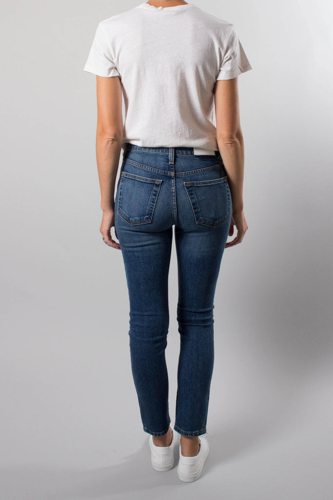 RE/DONE 70s Blue High Rise Ankle Crop