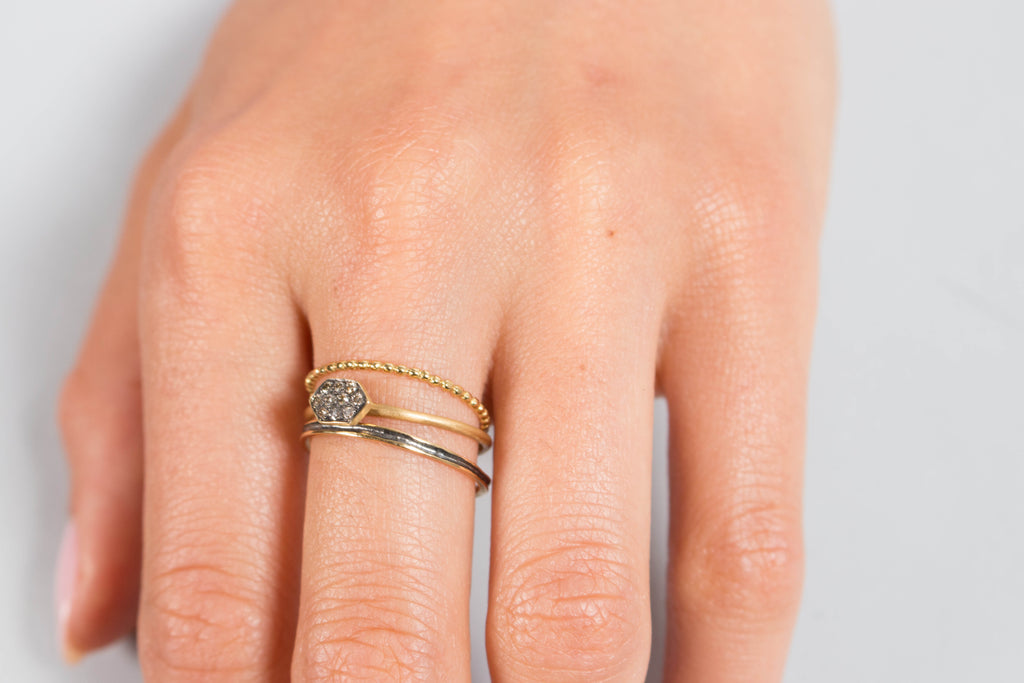 Satomi Kawakita Brown Diamond Arrow Ring