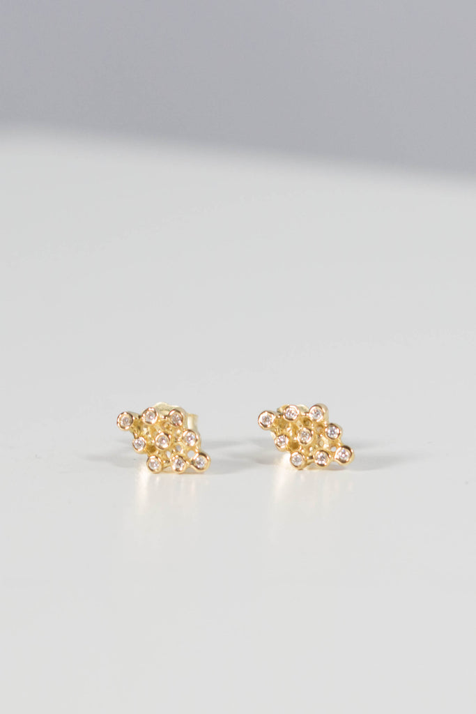 Satomi Kawakita Ikat Diamond Hydra 18K Gold Earrings