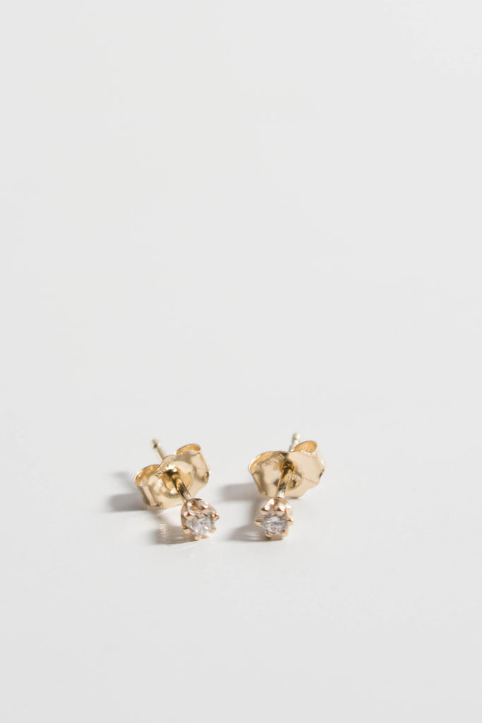 Satomi Kawakita White Diamond Baby Stud Earrings