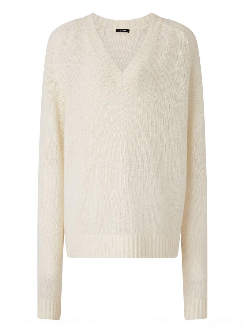 Knitwear - Joseph Open V Neck Cashmere Sweater - Misch - Vancouver Canada