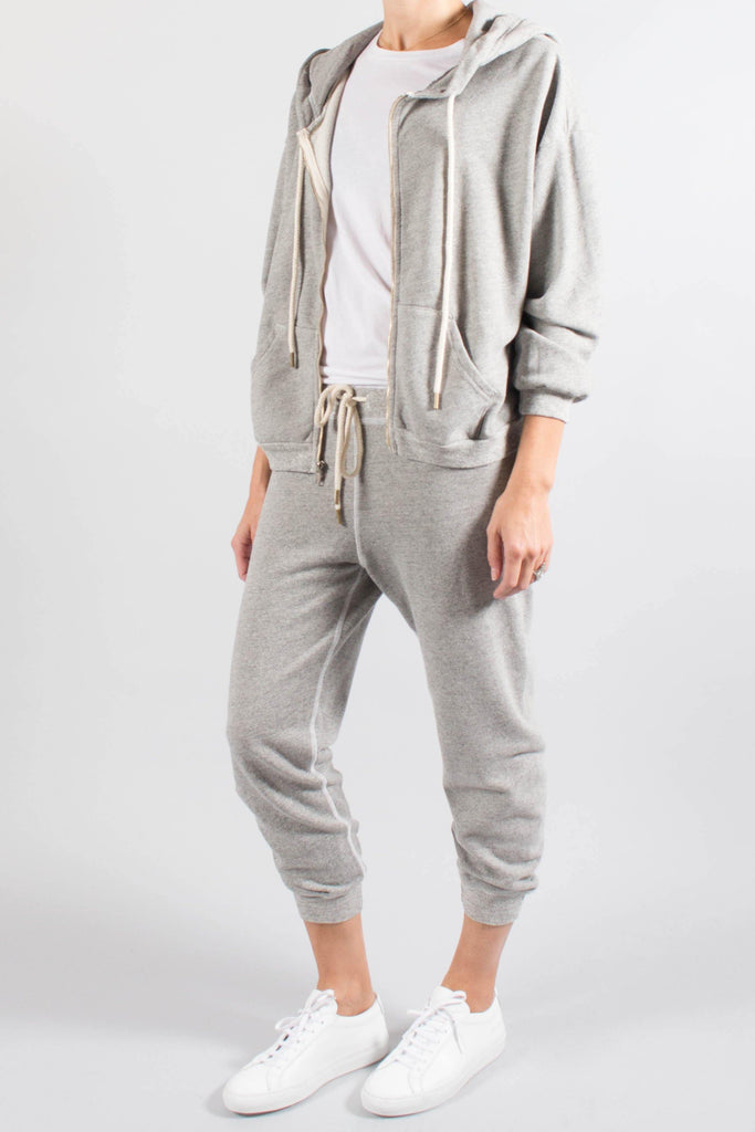 "The Great ""The Hoodie"" In Heathered Grey"